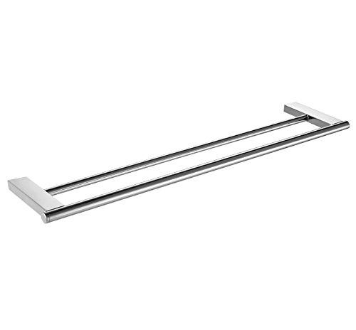 - MBYW Modern Minimalist high Load-Bearing Towel Rack Bathroom Towel Rail Stainless Steel Double Rod, Flat seat 304 Stainless Steel Double Rod Towel Rack Towel Rack