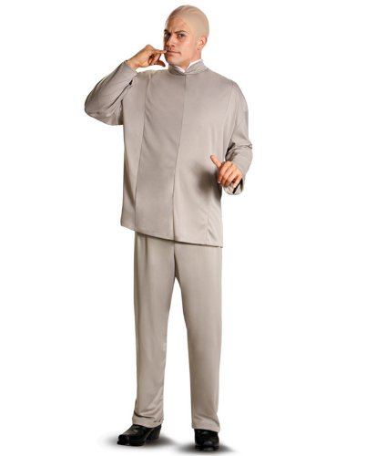 Austin Power Halloween Costumes (Disguise 100952 Austin Powers Dr. Evil Deluxe Adult Costume - Gray - Standard One-Size (XL))
