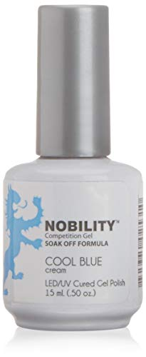 Lechat NOBILITY - Soak Off LED/UV Gel Color Polish 0.5oz/15ml (NBGP81 - Cool Blue - Soak Nobility