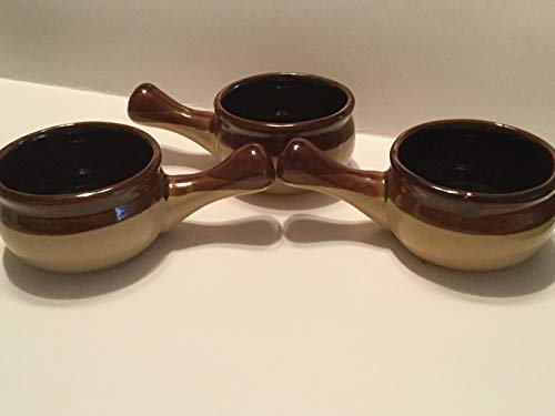 Set of 3 Rustic Individual Sauce Bowls, Stoneware Condiment Dishes