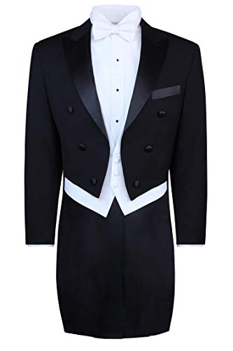S.H. Churchill & Co. Black Tailcoat Jacket - 44 Long ()