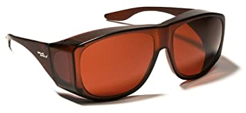 09f8b693fa Solarshield wraparound  Fits-Over  (spectacles) or wear alone sunglasses in  Polycarbonate BROWN AMBER Lens and Frame ...