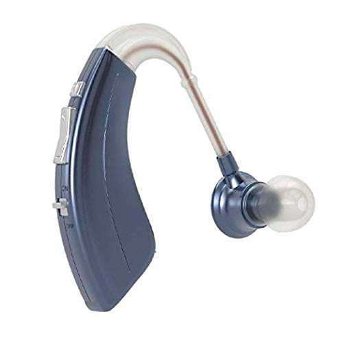 Digital Hearing Amplifier BHA-220 by Britzgo - Blue - 500hr Battery Life - Personal Sound Amplifier and Life Aid