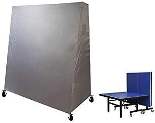 Laxllent Copertura per Tavolo da Ping Pong,Impermeabile Cover,165 x 85 x 185 cm, Grigio (600D Oxford in PVC)