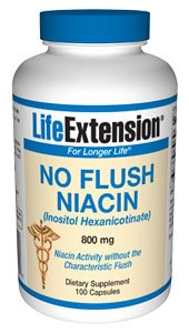 Life Extension, NO FLUSH NIACIN 800 MG 100 CAPSULES ( Multi-Pack) by Life Extension