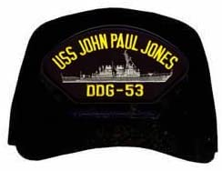 US Navy USS John Paul Jones DDG-53 Military Veteran Served Cap Baseball Hat Adjustable