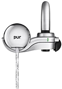 PUR 3-Stage Horizontal Water Filtration Faucet Mount Chrome FM-9400B