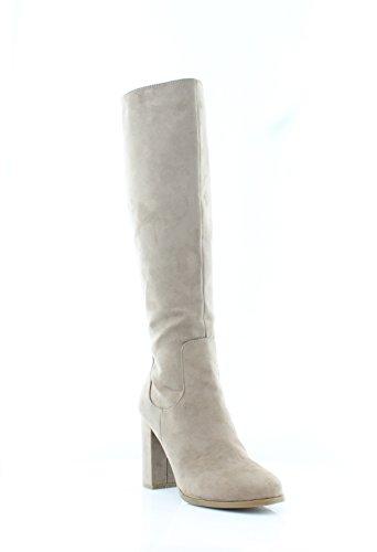 Steve Madden Women's Klash Riding Boot, Taupe Fabric, 7 M US