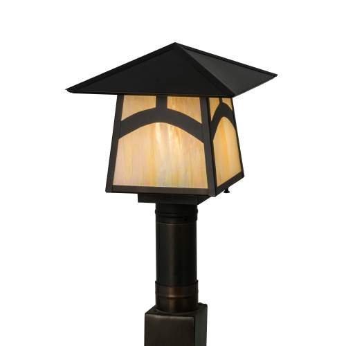 Meyda Tiffany 45234 Stillwater Hill Top Post Mount Light Fixture, 12 sq. in.