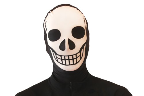 White Morphsuits (Morphsuits Morphmask Premium Skeleton, Black/White, One Size)