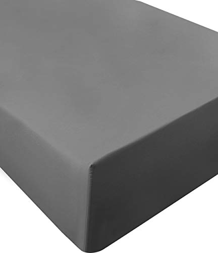 (Utopia Bedding Twin Fitted Sheet (Grey))
