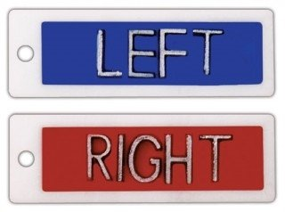 X-Ray Markers, Identifier Style - No Initials, SET, L&R 1/2'', Horizontal