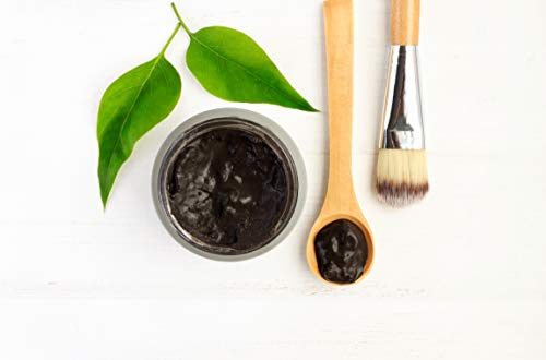 Organic Activated Charcoal & Bentonite Clay Detox Face Mask, Holistic At Home Spa Facial Treatment for Clear Healthy Skin, Natural Beauty