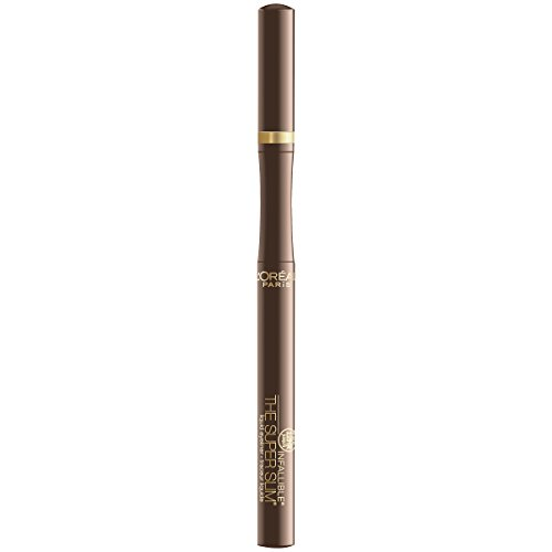 L'Oreal Paris Cosmetics Infallible Super Slim Liquid Eyeliner, Brown, 0.034 Fluid Ounce