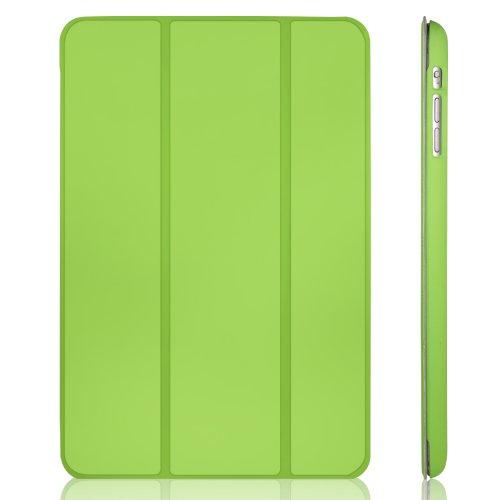 JETech® GOLD Slim Fit iPad mini 1/2/3 Hülle Schutzhülle Etui Tasche mit Ständer Funktion und Eingebautem Magnet für Einschlaf/Aufwach für Apple iPad mini, iPad mini 2 mit Retina Display und iPad mini 3 Smart Case Cover (Grün)