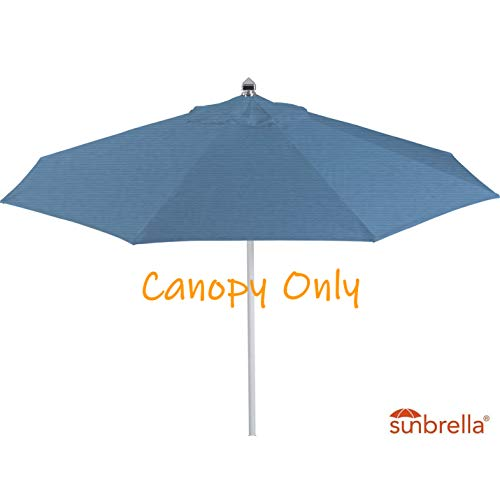 Casual Choice 9ft Round Universal Canopy Replacement for Market Umbrella (Sunbrella- Sapphire Blue)