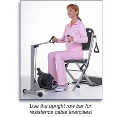 Resistance Chair & Smooth Rider II exercise cycles Combo by Continuing Fitness Inc
