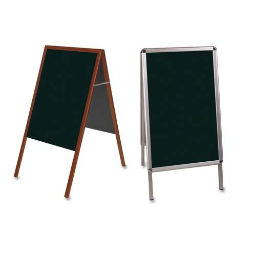Bi-silque Wet Erase Display Board, 1-7/10'' x 24'' x 47'', Black Surface/AM Frame (BVCDKT30505072) Category: Signs, Letters and Message Boards