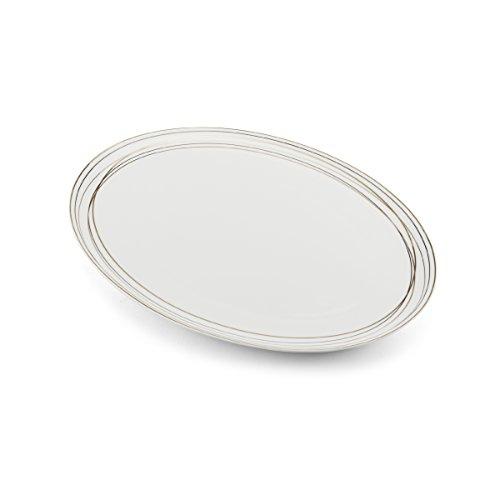 - Mikasa Electric Boulevard Bone China Oval Serving Platter, 14-Inch