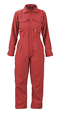 WOMEN'S FR COVERALLS - 4.5 oz. NOMEX IIIA Contractor Coverall - HRC 1 - APTV=6.5cal/m2 - MADE IN THE U.S.A.