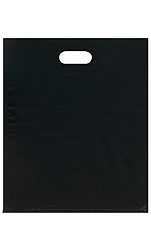 Large Low Density Black Merchandise Bags - Case of 500 by STORE001