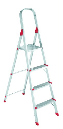 Louisville Ladder L2346-04 200-Pound Duty Rating Euro Aluminum Platform Ladder, 4-Foot (566 Aluminum Platform Ladder Euro)