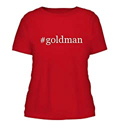 Goldman A Nice Hashtag Misses Cut Womens Short Sleeve T Shirt Red Large