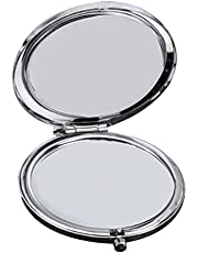 FRCOLOR Compact Mirror Travel Makeup Mirror Small Portable Folding Mirror Double Sided Purse Small Pocket Mirror