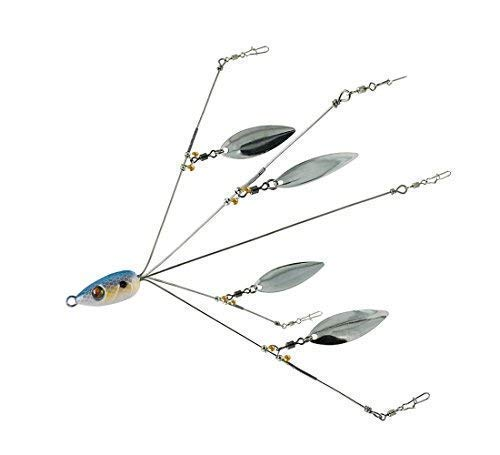 Alabama Rig for Bass Fishing Lures Swim Bait Umbrella Ultralight Multi and Blade 5 arm (Blue)