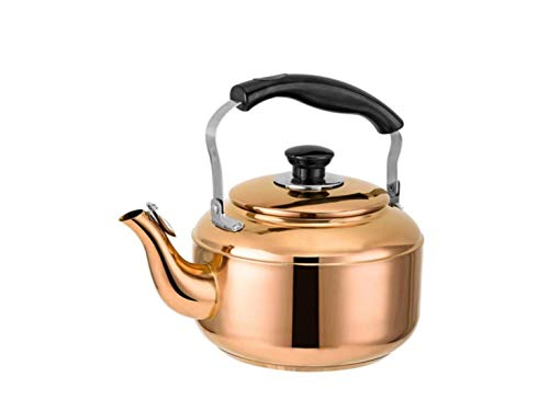 3 Liter Stove top Copper Stainless Steel Tea Kettle With BakeLite Handle, Gas Electric Induction Compatible