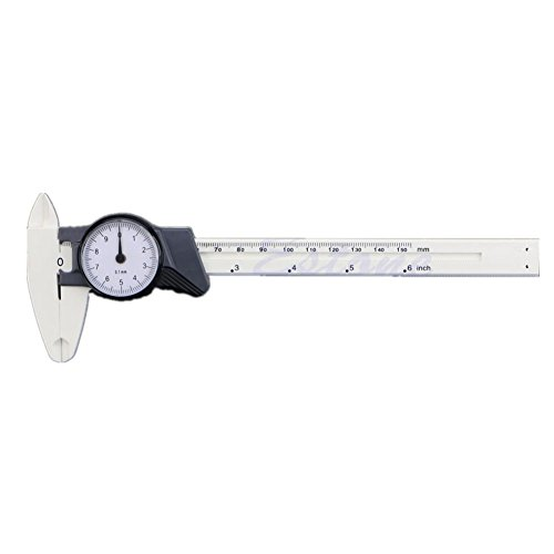 Kocome 150mm 6inch Dial Caliper Plastic Vernier Caliper 4Way Gauge Micrometer 0.1mm