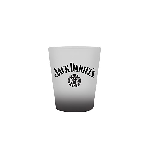 Jack Daniels Glass - Shot - Frosted w/Bottom Spray - 2 oz