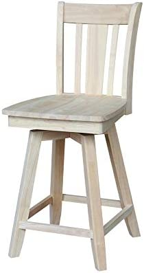 International Concepts S-102SW Counter Stool, 24 , Unfinished