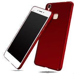 half off 62734 1cf95 SDO™ Slim Matte Finish Rubberized Hard Back Case Cover for Vivo V3 (Red)
