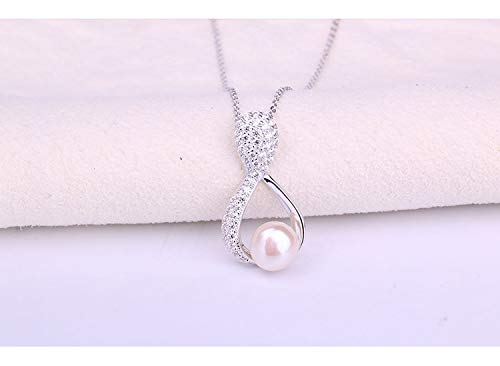 Ivy Morgan New 925 Silver Necklace Creative Natural Freshwater Pearl Necklace