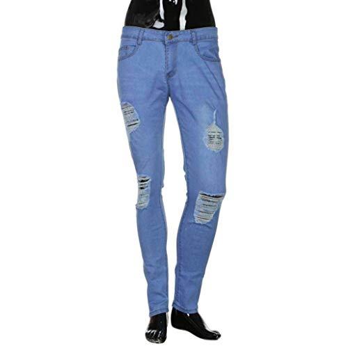 Strappati Nastrati Da Especial Blau Skinny Decorati Con Estilo Denim Slim Jeans Pantaloni Fit Uomo Biker dA7qW8X