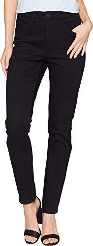 FDJ French Dressing Jeans Women's Onyx Denim Olivia Slim Leg Black 16 31