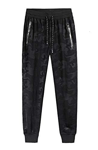 Casual À Poches Camouflage Élastique Hx De Mens Pantalon Mode Vêtements Sport Noir Latérales Tailles Lacets Confortable Pw7AwUq