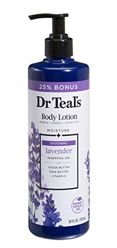 Dr Teals Body Lotion - Soothing Lavender - 20 oz Bonus -