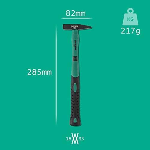 Werkzeugstahl Hammer Holzstiel DIN1041 500 Schlosserhammer 500g schwarz matt