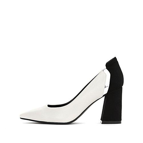 PUMPS Ladys Pointy Heel Schuhe,Freizeit Stitching Schuhe-C Fußlänge=23.8CM(9.4Inch)