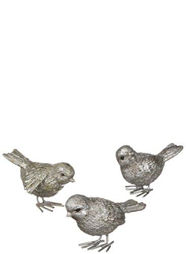 Sullivans Resin Metallic Birds, Assorted Set of (Bird Ceramic Perch)
