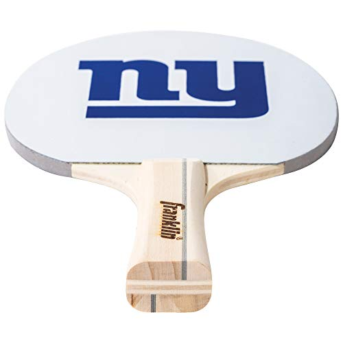 Franklin Sports New York Giants Team Table Tennis Paddle - Wood Paddle Pips In Rubber Surface with Team Logo - NFL Official Licensed Product ()