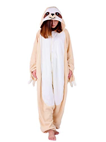 ent-Child Outfit Kids Sloth Cosplay Costume Onesie Pajamas ()
