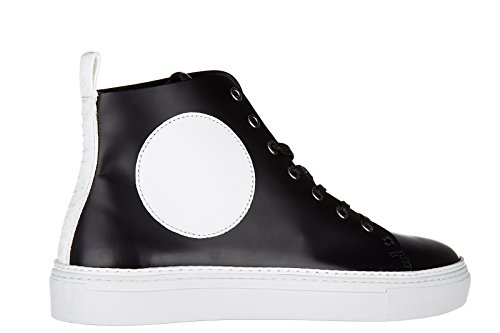 MCQ Alexander McQueen chaussures baskets sneakers hautes homme en cuir chris mid