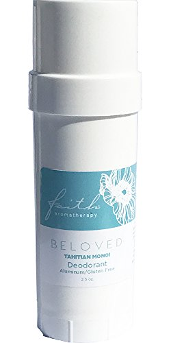 Beloved Tahitian Monoi Natural Aluminum Free Deodorant Stick| Absorbs Moisture and Neutralizes Odors | Essential oil Based Fragrance |Toxin Free Paraben Free | No Oily or Sticky Residue