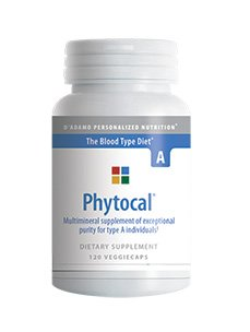 D'Adamo Personalized Nutrition - Phytocal A 120 vcaps