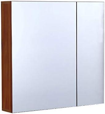 フルミラーバスルームミラーキャビネット黄色と白長さ:48cm-79cm壁食器棚トイレタリー、化粧品、シェーバー、医薬品用浴室ミラーキャビネット