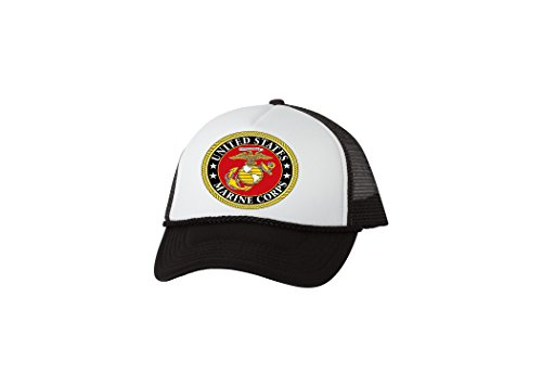 Rogue River Tactical USMC Trucker Hat United States Marine Corps Baseball Cap Retro Vintage EGA Cover (Marine Trucker Hat)
