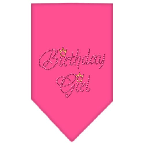 Mirage Pet Products Birthday Girl Rhinestone Bandana, Small, Bright Pink